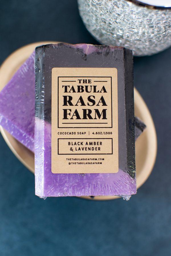 Black Amber & Lavender Handcrafted Soap