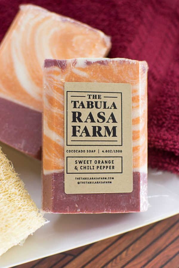 Sweet Orange & Chili Pepper Handcrafted Soap