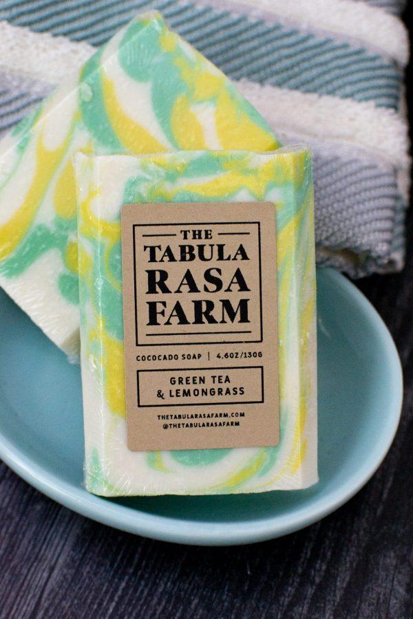 Green Tea & Lemongrass Handcrafted Soap